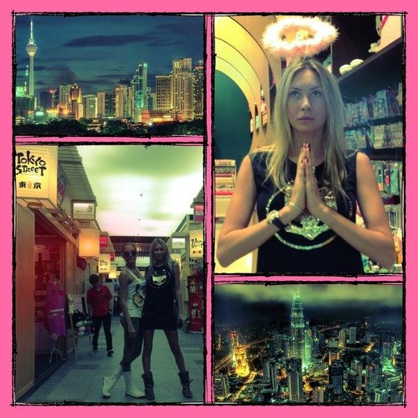 Элина Карякина на отдыхе в Малайзии